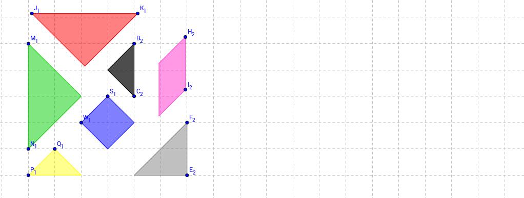 Peças do Tangram: conceitos de área e perímetro.