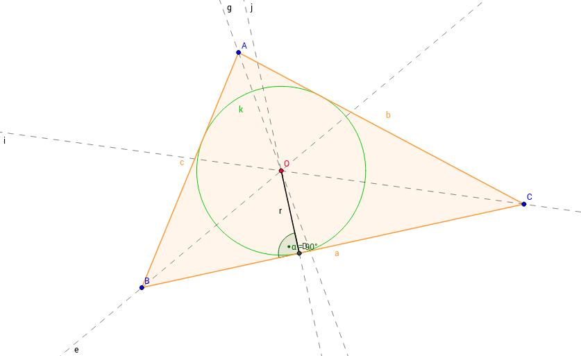 Háromszög beírható köre