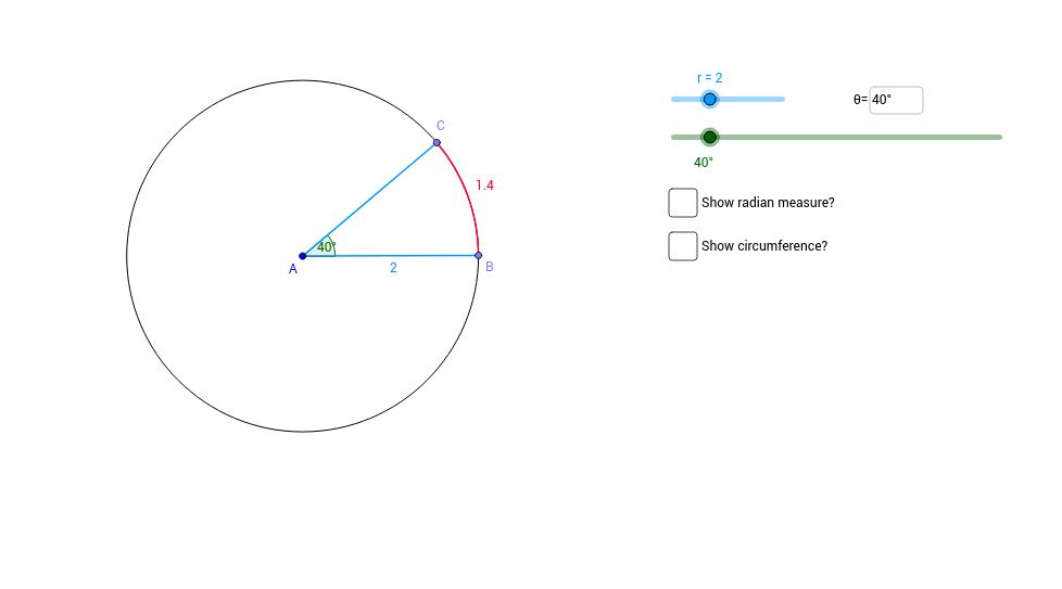 Investigating Radian Measure GeoGebra – Radian Measure Worksheet