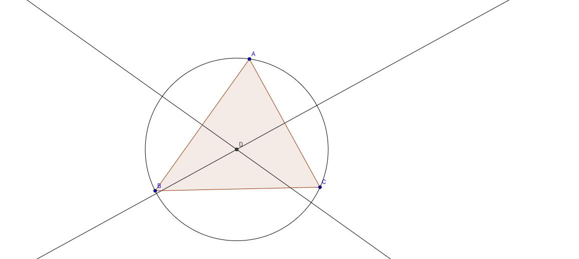 Construcción del problema de Apolonio dados 3 puntos.