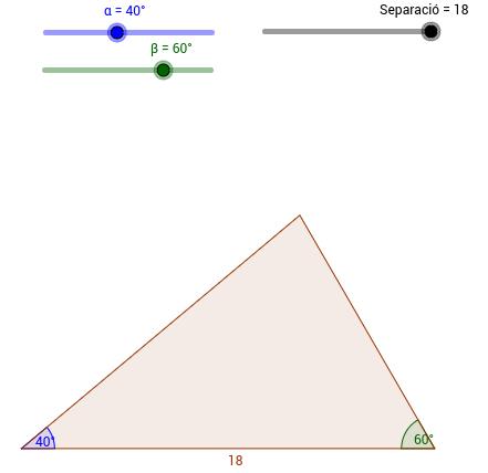 Càlcul de l'altura per tangents II