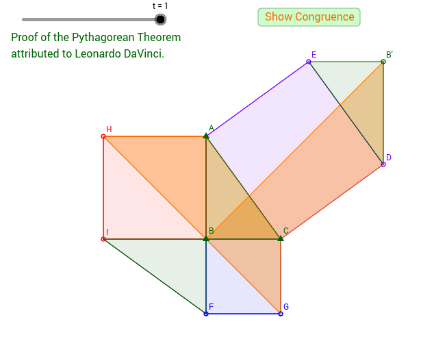 DaVinci's Pythagorean Theorem