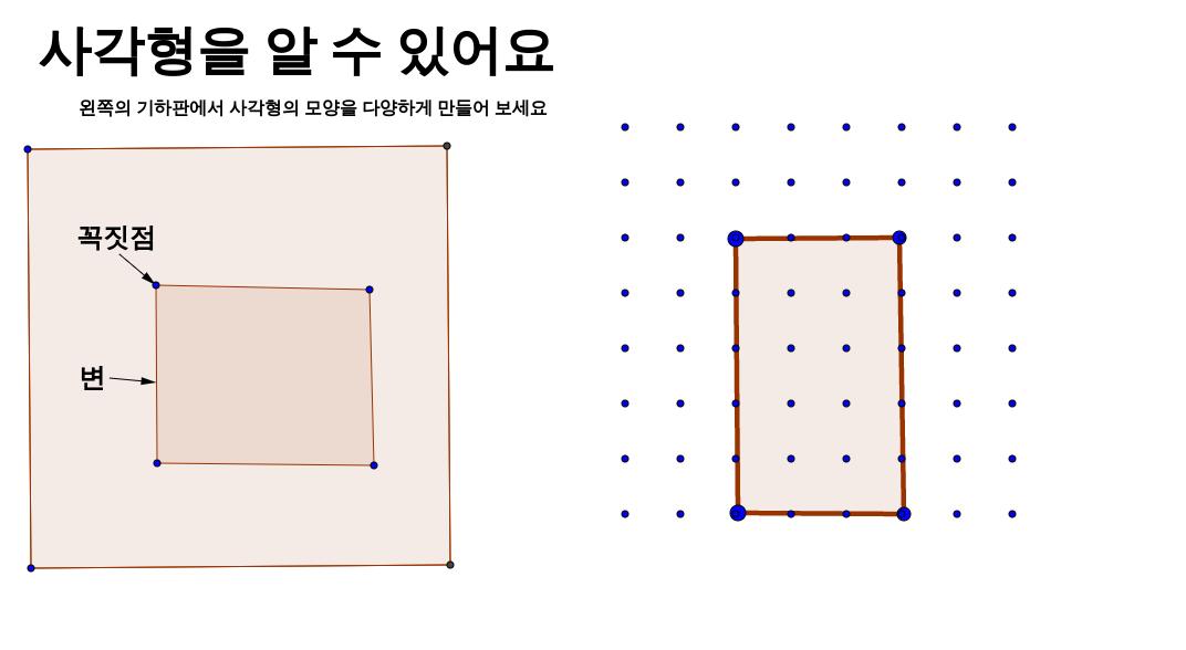 사각형을 알 수 있어요