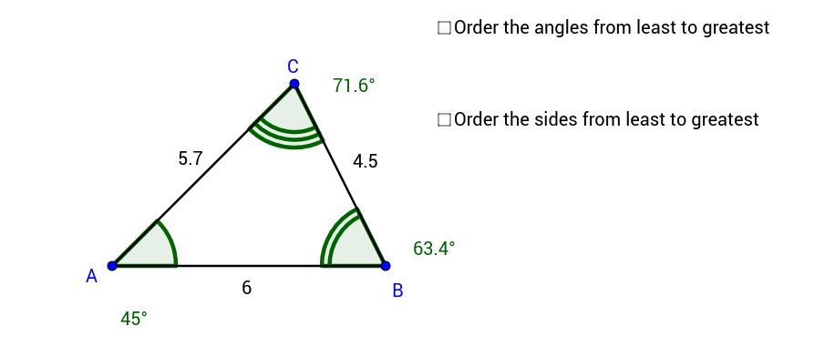 Angle from Side and Side from Angle Inequalities