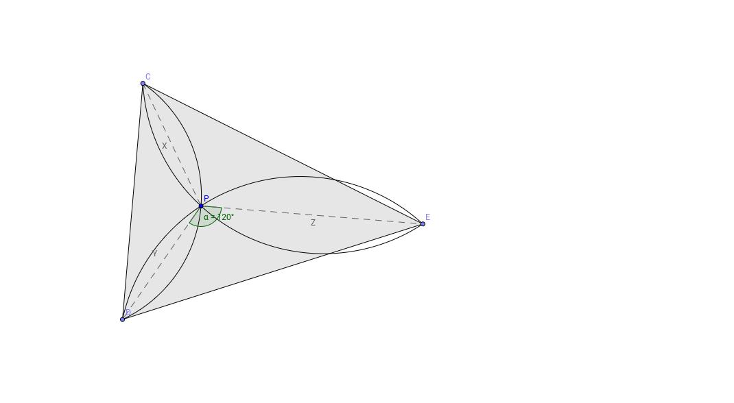 Fermat-pont szerkesztése látókörösen