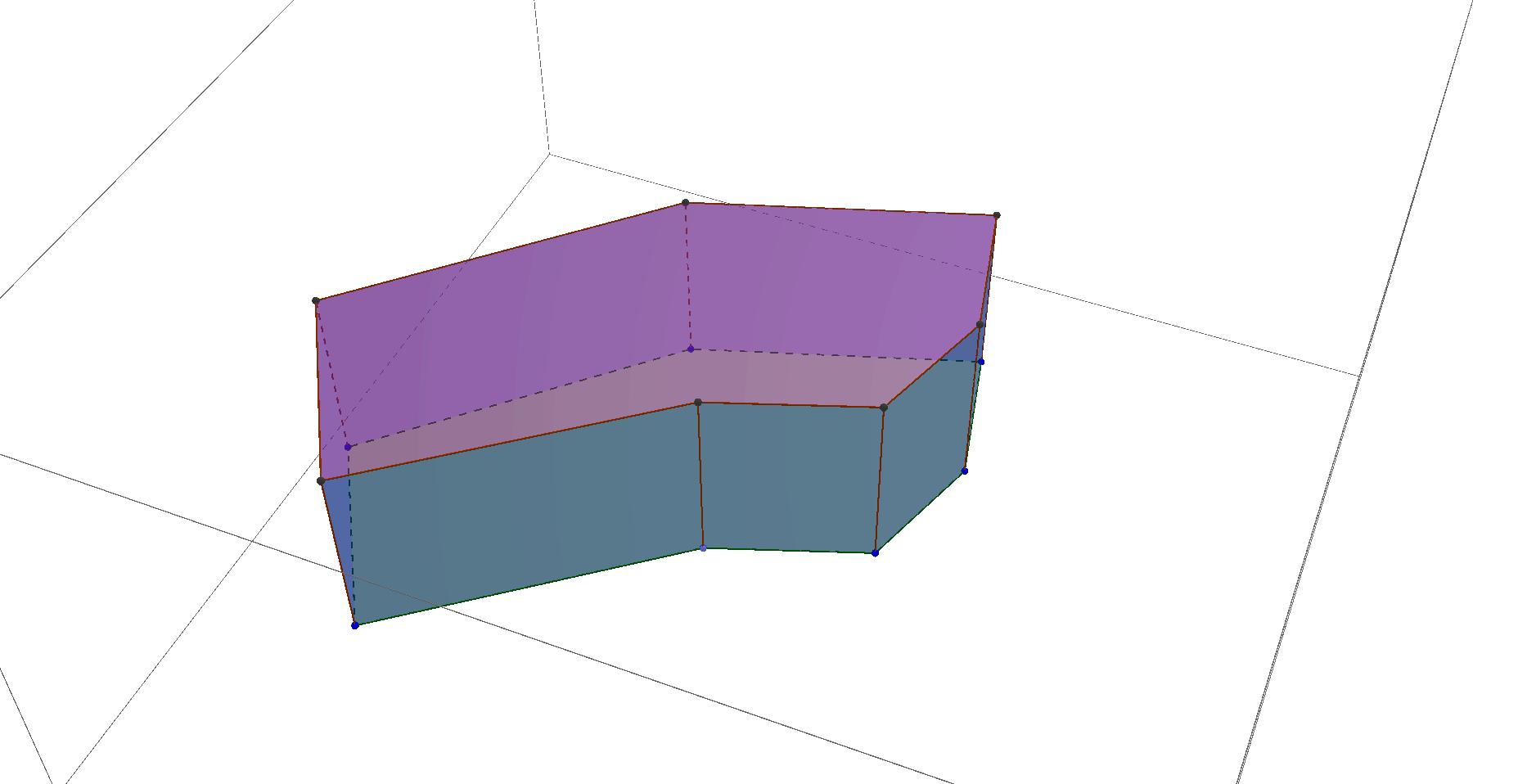 Prisma mit unregelmäßiger Grundfläche