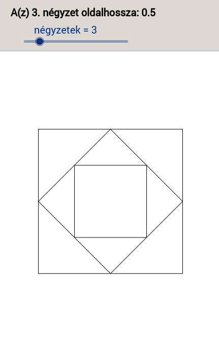 Szabályos négyszögek egymásba skatulyázott sorozata 1.