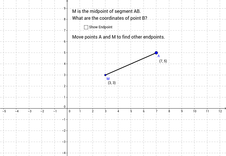 Calculate Endpoint Given Midpoint