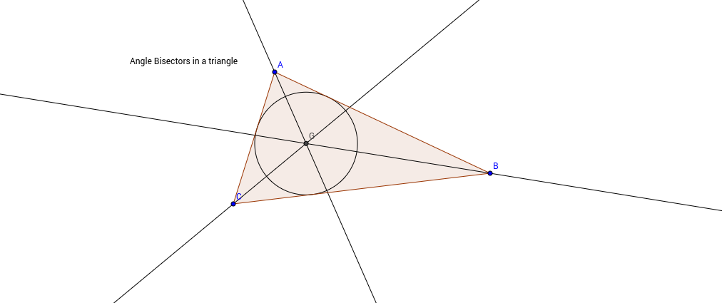 Angle Bisectors in a triangle