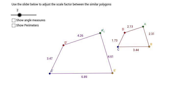 Similar Polygons Activity - GeoGebra