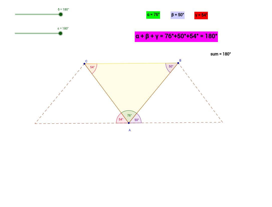 Visualizing the Angle Sum in a Triangle