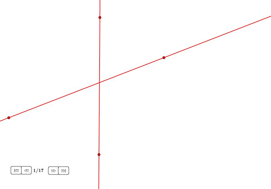 Intersección de dos rectas sólo con compás