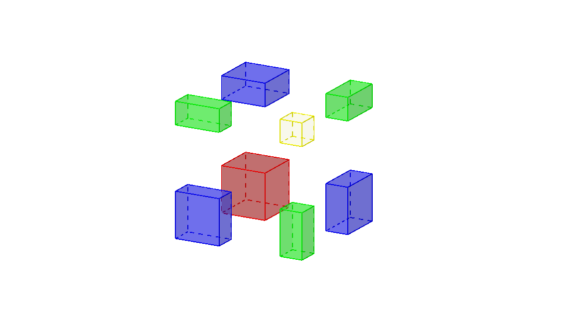 A 3D visualization of the identity (a+b)^3