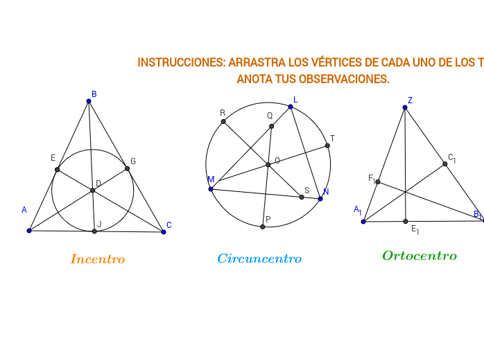 Puntos Notables en los Triángulos