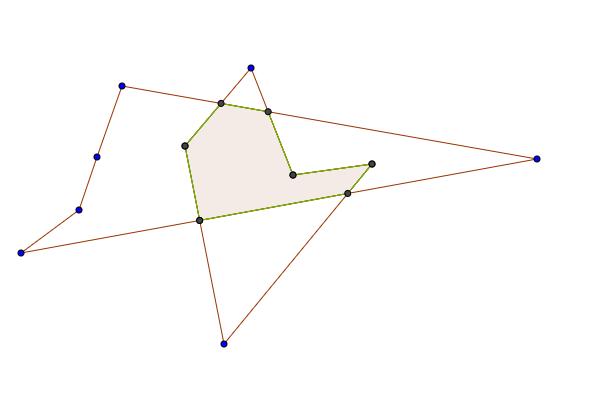 任意多边形重叠部分