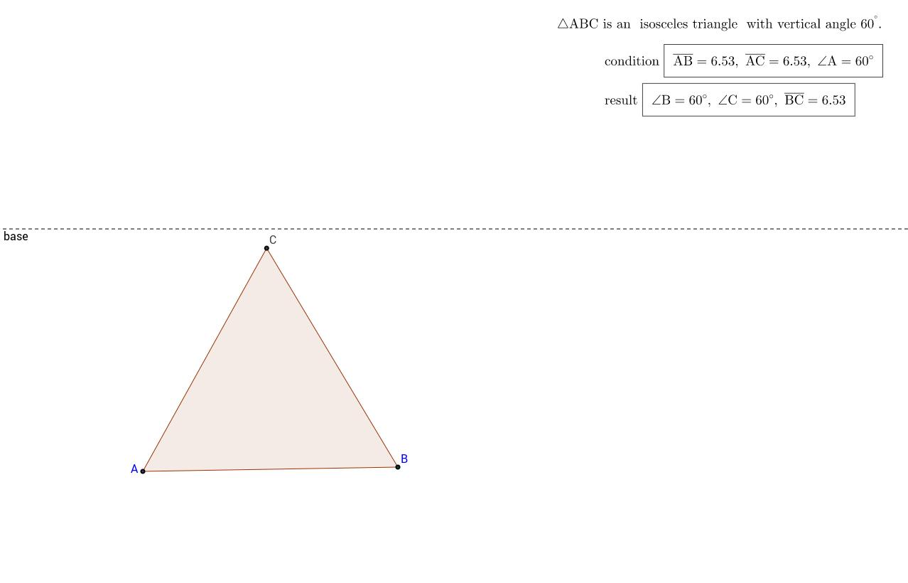 regular triangle? based on Hilbert's