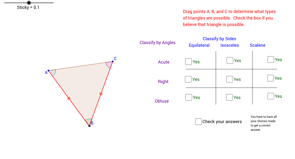 Types of Triangles - GeoGebra