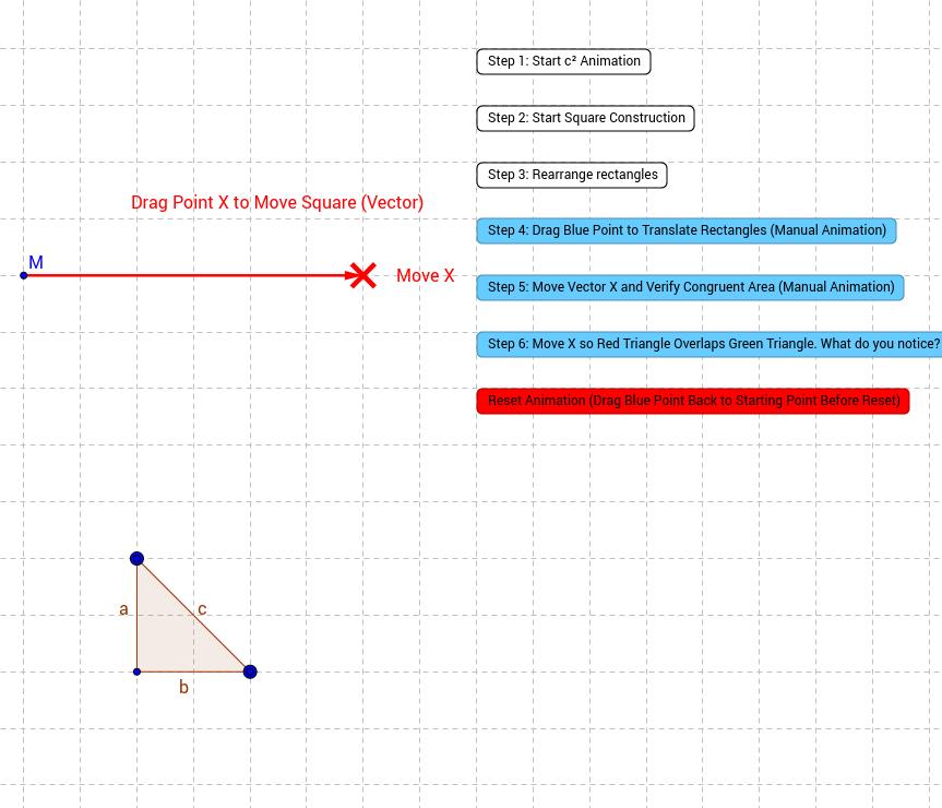 Pythagorean Theorem Animation