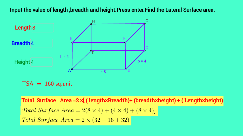 Lateral Surface Area of a Cubeoid Self Assessment