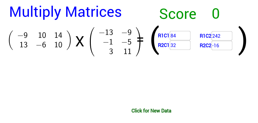 Matrix Multiplication Practice 2by3 X 3by2 GeoGebra – Matrices Worksheet