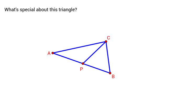 a triangle ABC cut into 2
