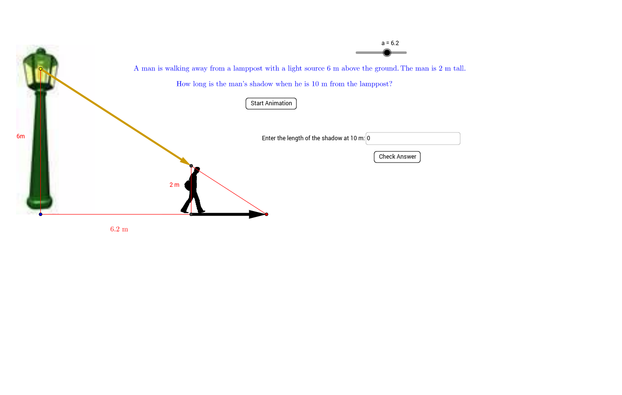 worksheet Slope Triangles Worksheet similar triangles problem geogebra problem