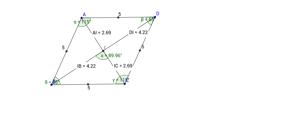 Diagonals of a rhombus