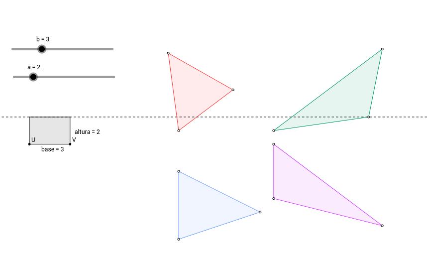 Área triángulos