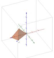 Пирамида с ребрами под 45 градусов