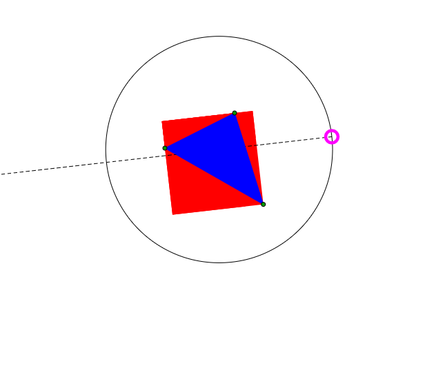 rectangle circonscrit à un triangle