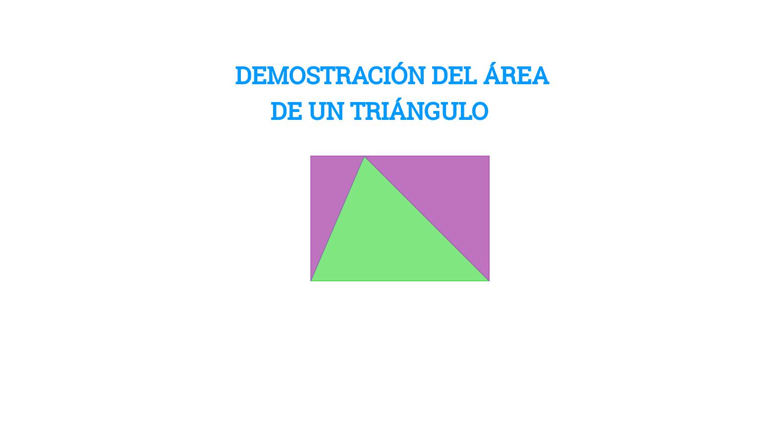 DEMOSTRACIÓN DEL ÁREA DE UN TRIÁNGULO