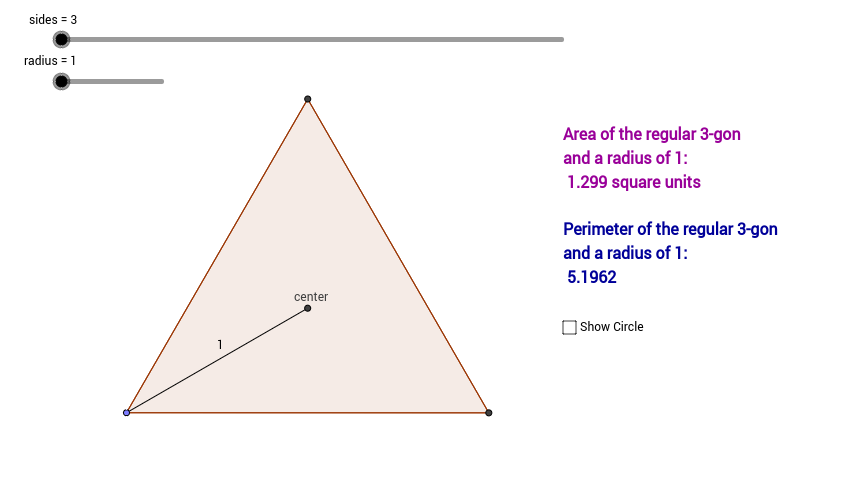 formula for Area and Perimeter of Circle