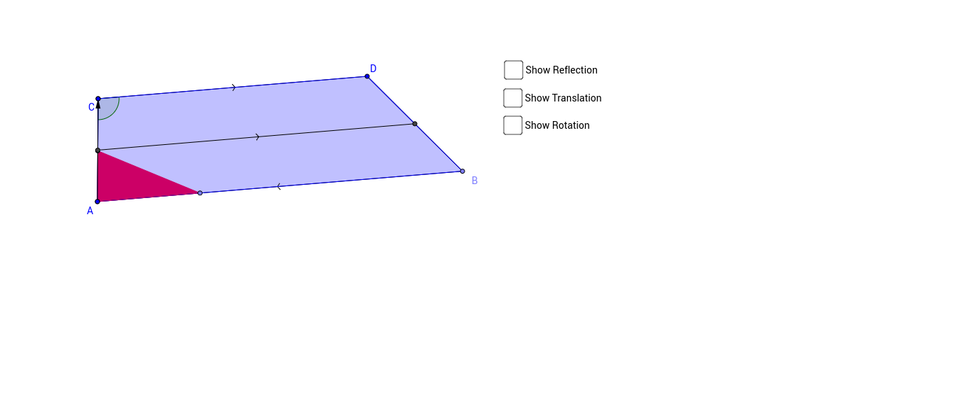 Parallel Lines and Transformations in a Trapezoid