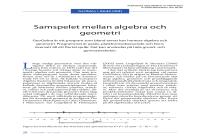 Samspelet mellan algebra och geometri