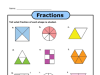 Fractions Shapes