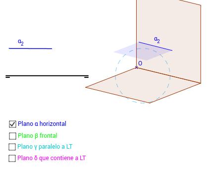 DT2.Diedrico. Alfabeto del plano 2.