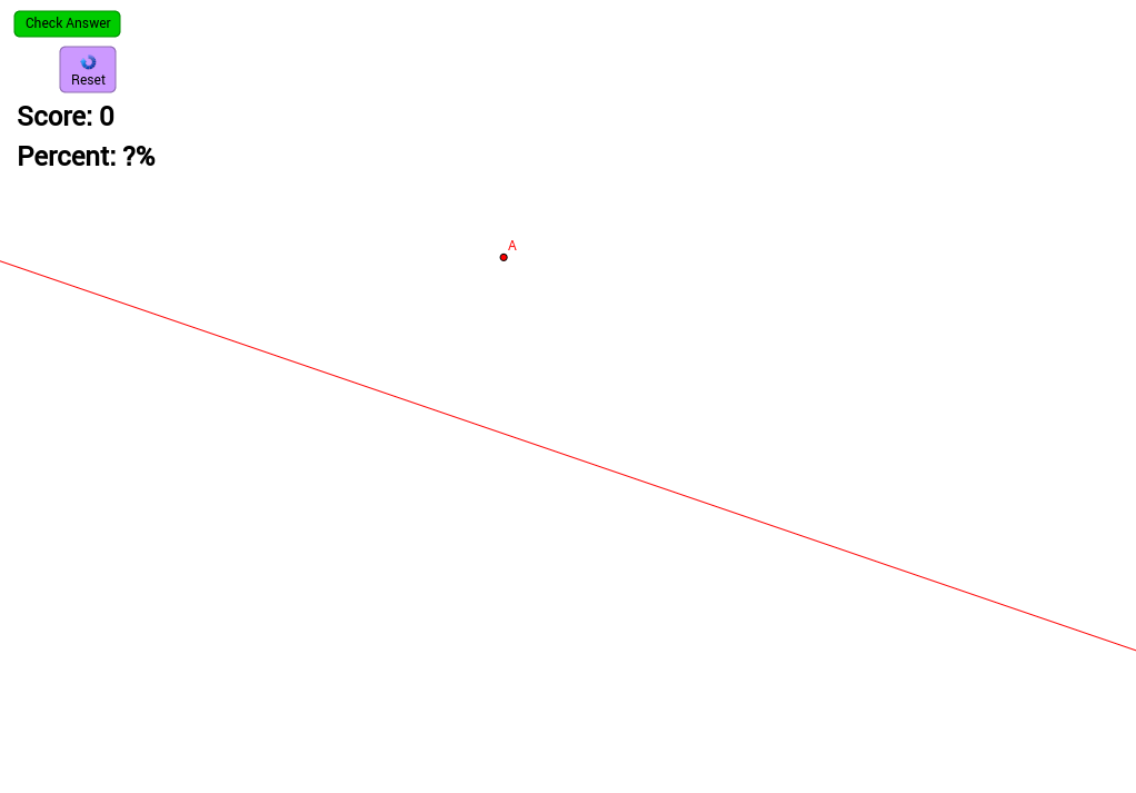 Perpendicular Line through a Point Not on Line (Self-Check)