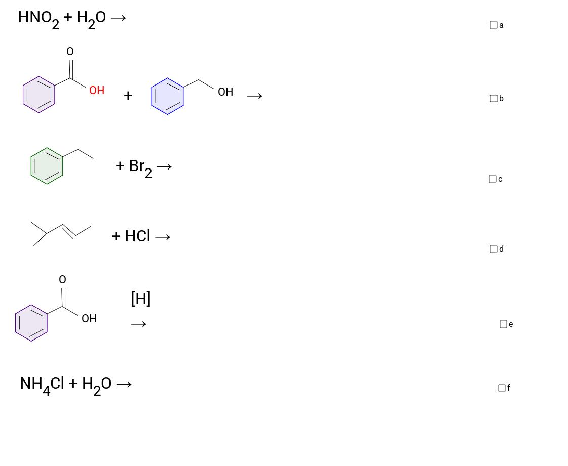 Kemian reaktiotyyppejä