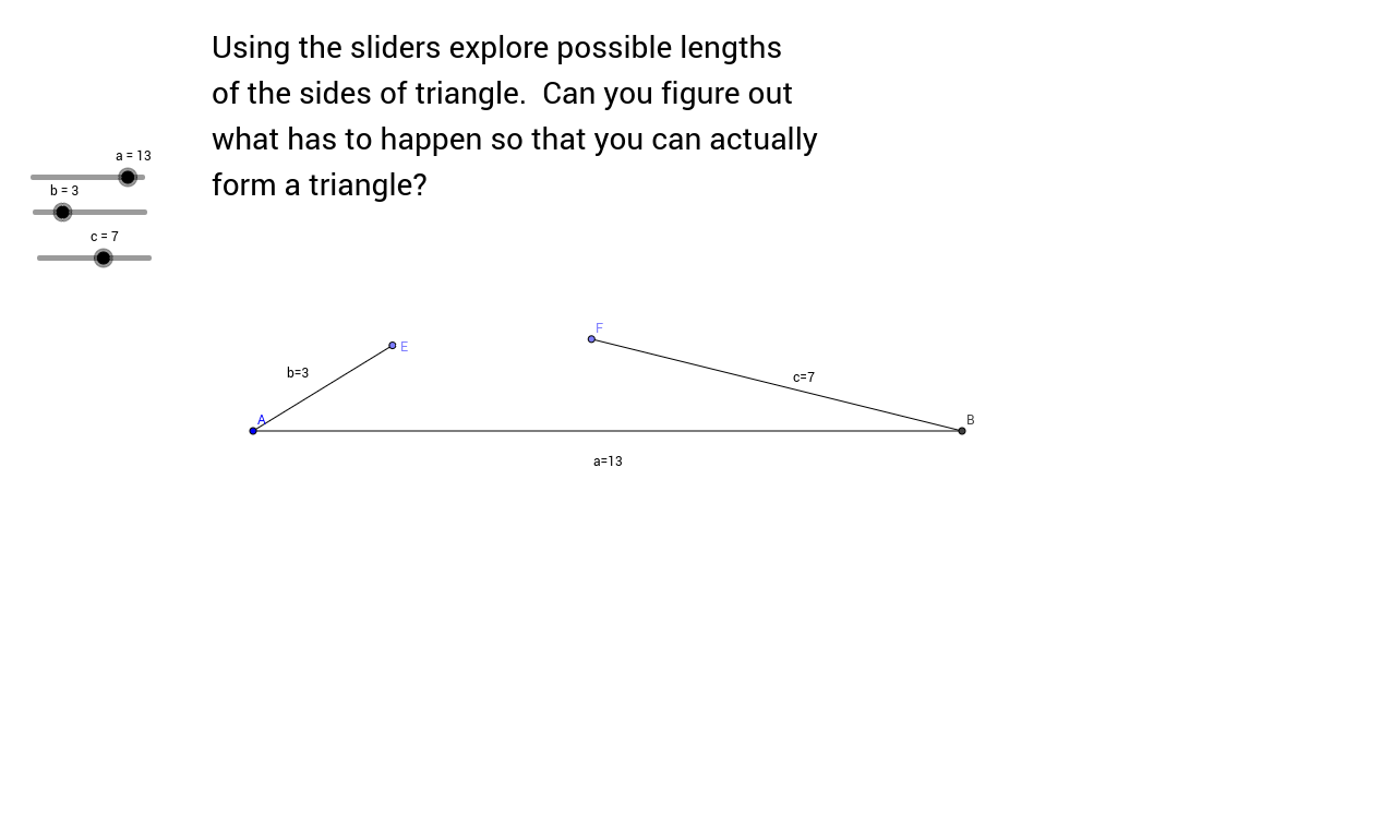 worksheet Triangle Inequalities Worksheet triangle inequality geogebra view worksheet