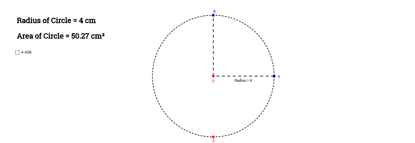 Area of Sectors (Radians)