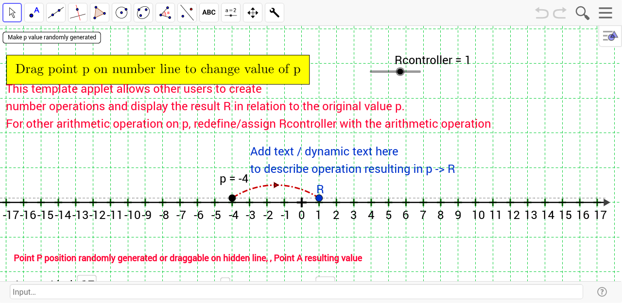 worksheet Number Line Template number line template geogebra