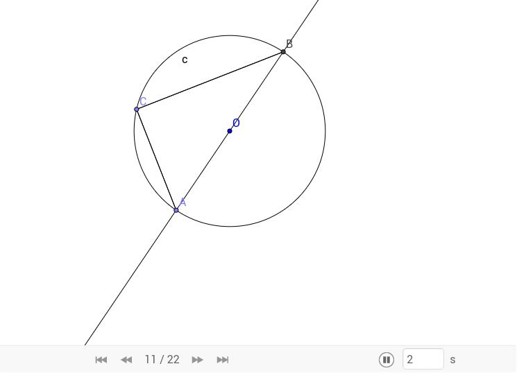 Thales' Theorem- Proof