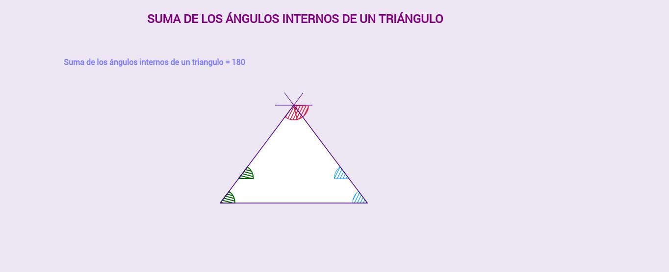 Suma de ángulos internos de un triángulo