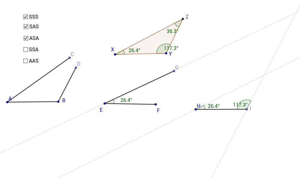 Congruent Triangles construction GeoGebra – Constructing Triangles Worksheet