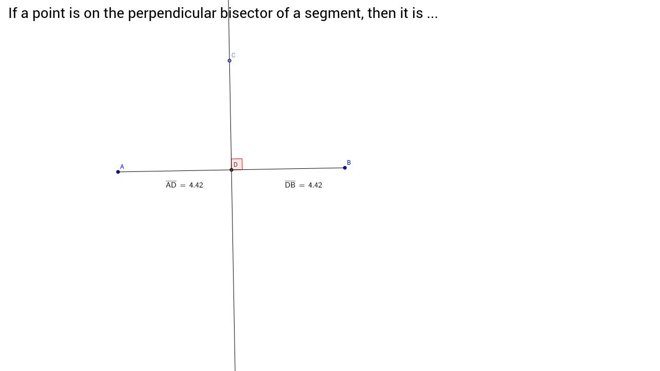 Worksheets Parabola Worksheets perpendicular bisector theorem geogebra view worksheet