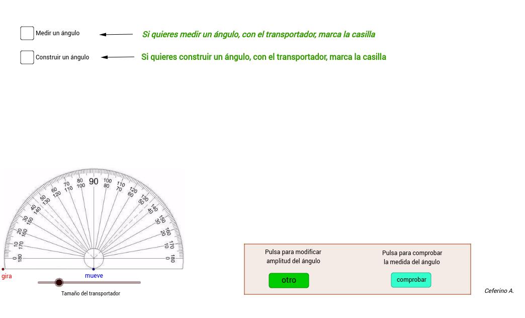 Construcción y medida de ángulos con transportador