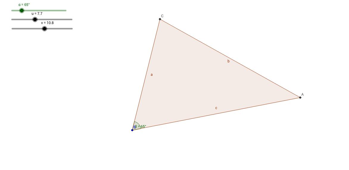Háromszög szerkesztés: két oldal, szemközti szög