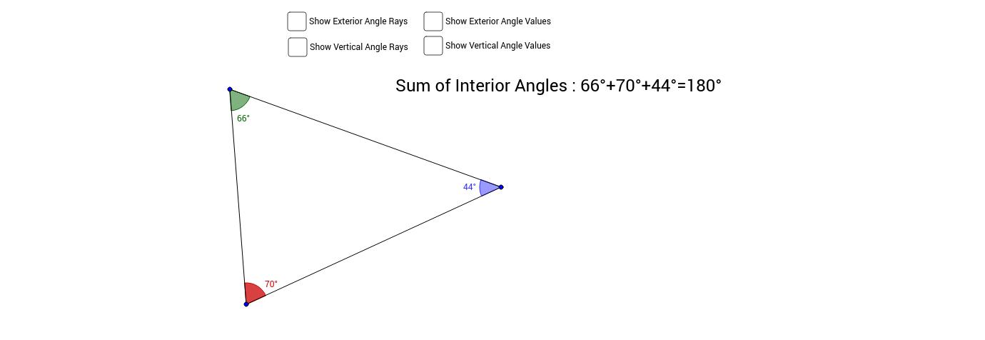 Triangle Exterior Angle & Angle Sum