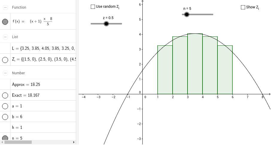 Riemann Sums GeoGebra – Riemann Sum Worksheet