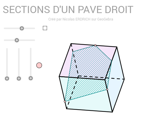 Sections d'un parallélépipède rectangle